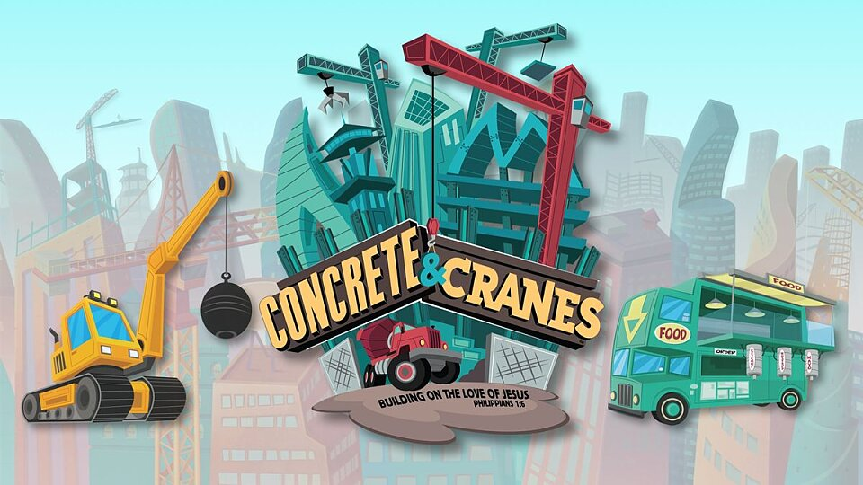 concrete and cranes